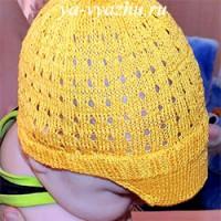 Вязаная детская шапочка «Кепасик для Глебасика» на конкурс!
