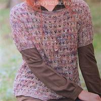 Ажурная кофточка или ажурный пуловер? Называйте, кому как нравится!