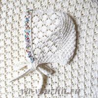 Плед и шапочка для новорожденной внучки Златочки