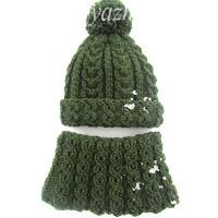 Детская шапочка и снуд спицами — зимний комплект для мальчика
