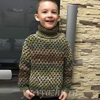 Дополнение к шапочке «Ананасик» — свитер для мальчика спицами