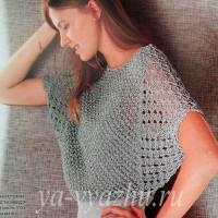 Вязаный женский пуловер с рукавом «летучая мышь» — сама легкость и воздушность!