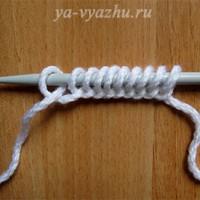 Пять способов набора петель спицами