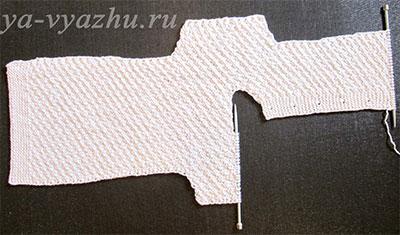 """Вязание спинки с рукавами для конверта (мешочка) """"Снеговик"""""""
