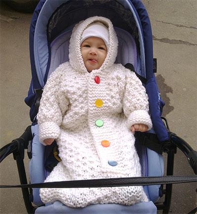 """Конверт (мешочек) """"Снеговик"""" для самых маленьких"""