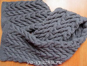 Как связать шапку и шарф спицами