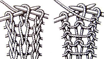 Короткие снятые (вытянутые) петли