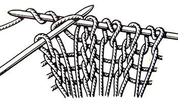 Длинные вытянутые петли
