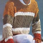 Мужской пуловер в полосу