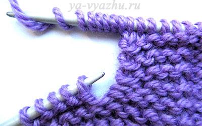 Вязание вертикальной петли 2-м способом