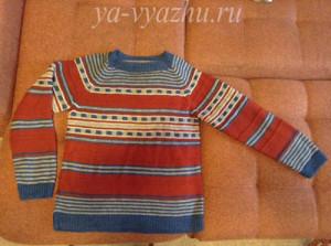 Пуловер по описанию из моего блога