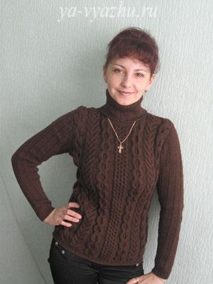 Женский пуловер. Работа Любови Яковец