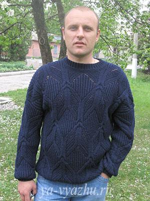 Мужской пуловер. Работа Любови Яковец
