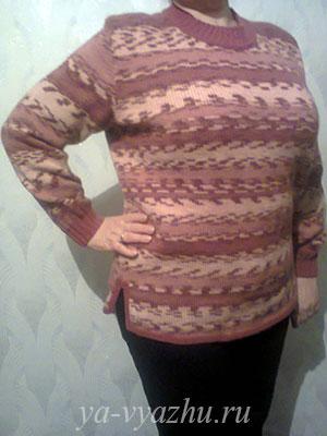 Жаккардовый пуловер от Любови Якивец