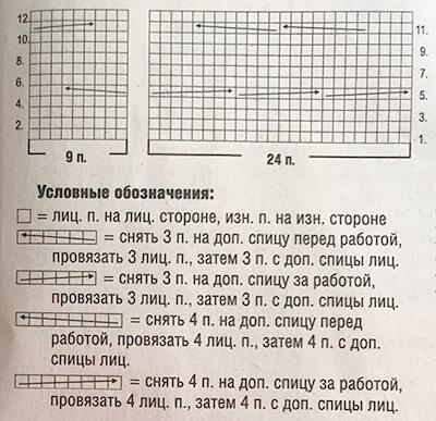 Схема узора для белого жилета