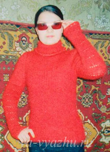Работа Татьяны Буденной. Красный свитер