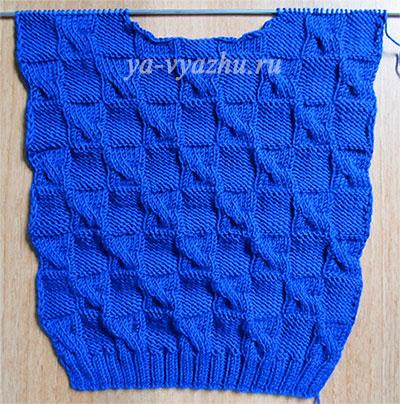 Спинка детского пуловера