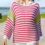 Женский полосатый пуловер