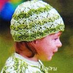 Летняя шапочка спицами из журнала по вязанию