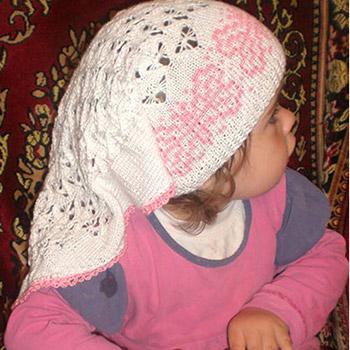 вязание детской шапочки спицами бабочки вязальное настроение