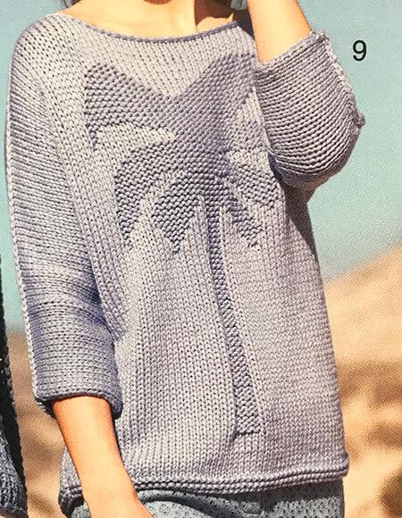 Женский джемпер с пальмой