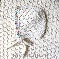 Плед и шапочка для новорожденного спицами
