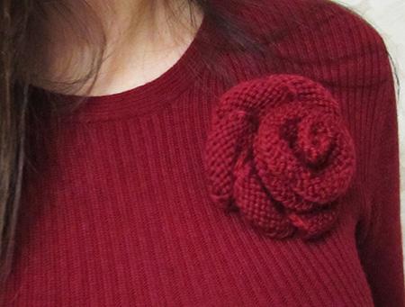 Вязание розы спицами