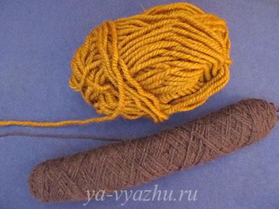 Пряжа для вязания тапочек (следков) спицами