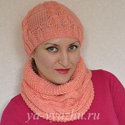 Как связать шапку спицами. Как связать шарф (снуд) спицами