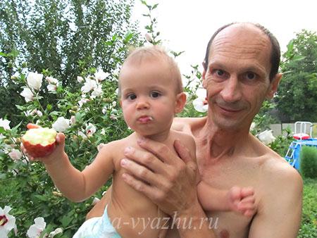 Злата с дедушкой