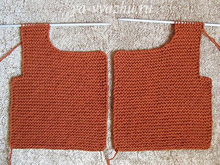 Правая и левая полочки жакета