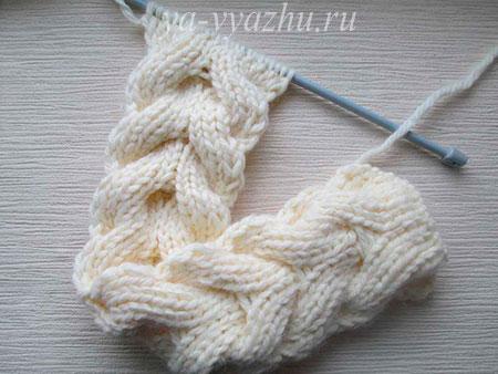 Вязание шарфа-снуда спицами