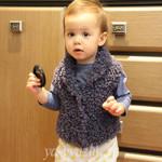 Детская жилетка спицами для маленькой внучки