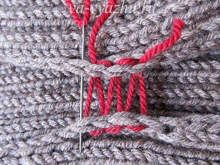Как сшить вязаное изделие моим способом