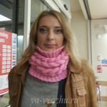 Шарф-снуд с плетеными косами от Татьяны Сухоцка