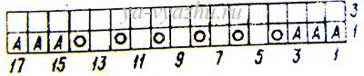 Схема узора шарфа из ангоры