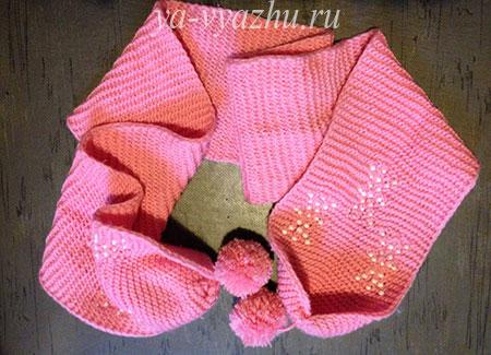 Как связать детский шарф спицами поделилась Елена Выскребцева