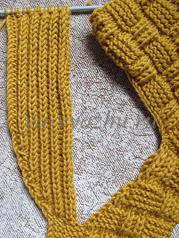 Вязание воротника-шальки