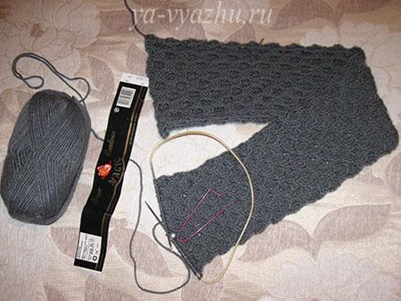 Как вязать шарф спицами