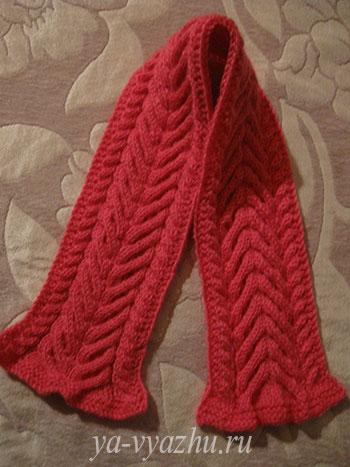 Детский шарф спицами готов!