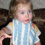 Детский шарфик с косами — третья работа Марины Гибовской на конкурс!
