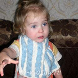 Двухцветный шарф Марины Гибовской