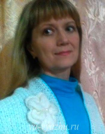 Шарф-снуд спицами от Ольги Каримовой