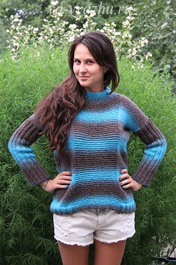Креативный пуловер для дочери