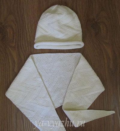 Детский комплект: шапочка и бактус