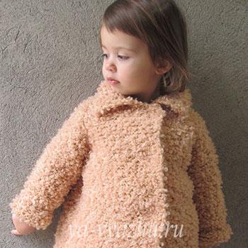 Пальто для малышки Златы спицами