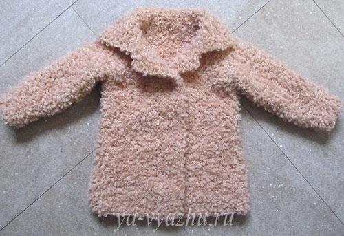 Буклированное пальто из пряжи ASTRAKHAN