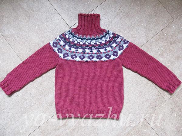 Новый свитер для внучки