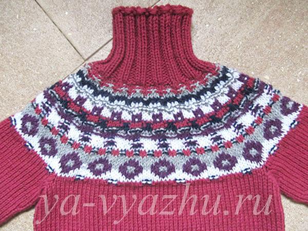Новый свитер спицами