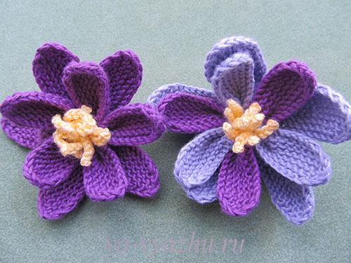 Вязаные цветы кувшинки